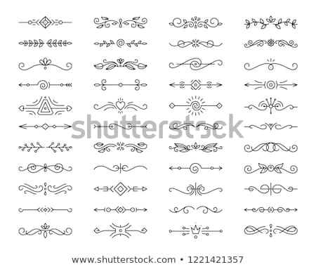 Set of horizontal flourishes divider decorative Stock photo © reftel