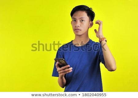 混乱 · 若い男 · 電話 · カジュアル · 頭 - ストックフォト © deandrobot