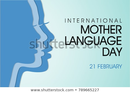 silhouette  Mother Language Day Stock photo © Olena