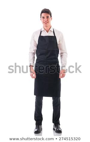 Man schort atletisch werk keuken zakenman Stockfoto © Traimak