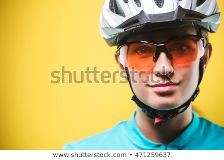 close up portrait of a concentrated sportswoman stock photo © deandrobot