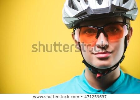 Portret zagęszczony sportsmenka strony kamery Zdjęcia stock © deandrobot