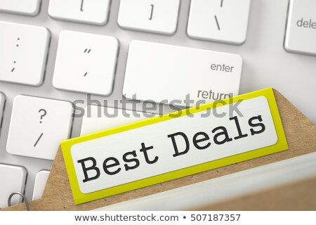 File Card with Best Offer. 3D. Stock photo © tashatuvango