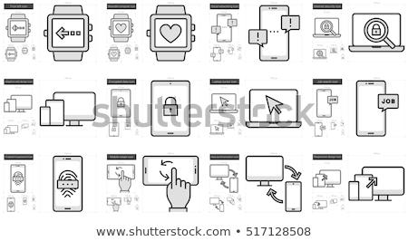 smartphone · laptop · line · icona · web · mobile - foto d'archivio © rastudio