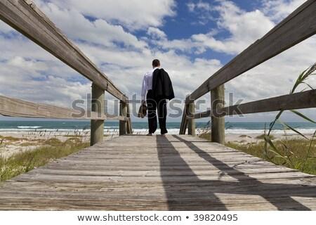 man looking across sea Stock photo © IS2