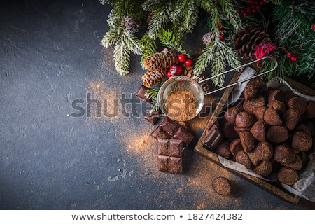 doce · foco · branco · saúde · chocolate · apresentar - foto stock © joannawnuk