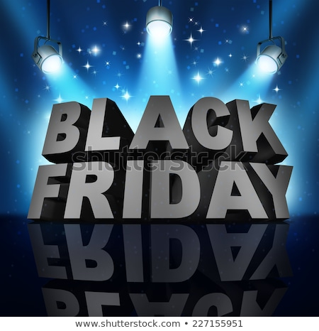 Stok fotoğraf: Black Friday Stage Sale Sign
