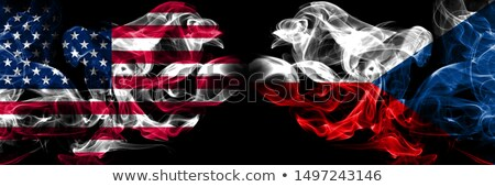 Football in flames with flag of czech republic Stock photo © MikhailMishchenko