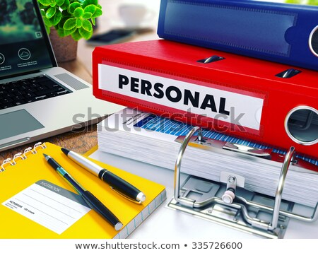 personal on office folder toned image stock photo © tashatuvango