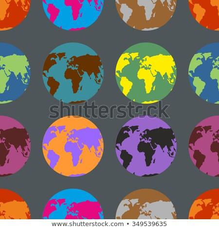 Ziemi crazy wzór wielobarwny kontynenty tekstury Zdjęcia stock © popaukropa