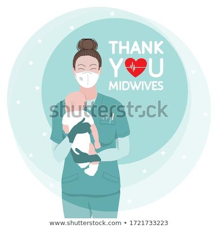 медсестры · ребенка · ухода · Постоянный · защиту - Сток-фото © is2