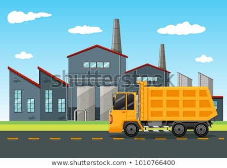 Factory scene with dumping truck Stock photo © bluering