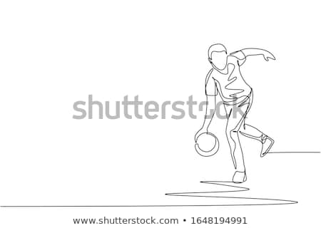 Melon bowling personne herbe sport pelouse Photo stock © IS2