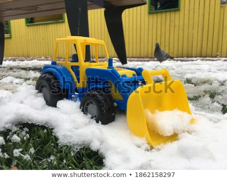 toy truck removes snow Stock photo © ssuaphoto