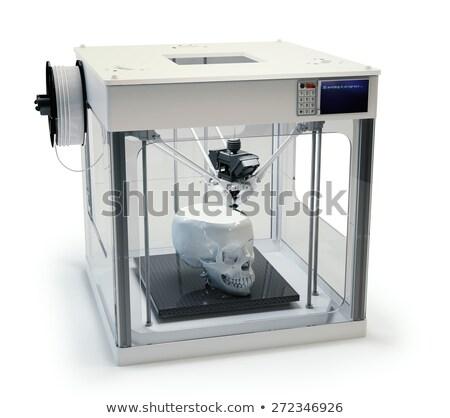 Menselijke schedel 3D printer productie Stockfoto © rogistok