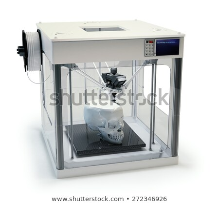 3D · impressora · fabrico · bitcoin · desenho · animado - foto stock © rogistok