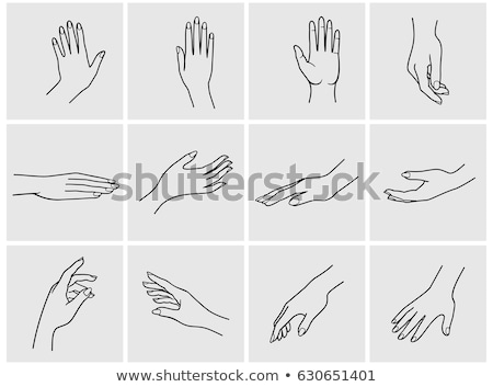 女性 手 図面 女性 シンボル ブラシ ストックフォト © Sonya_illustrations