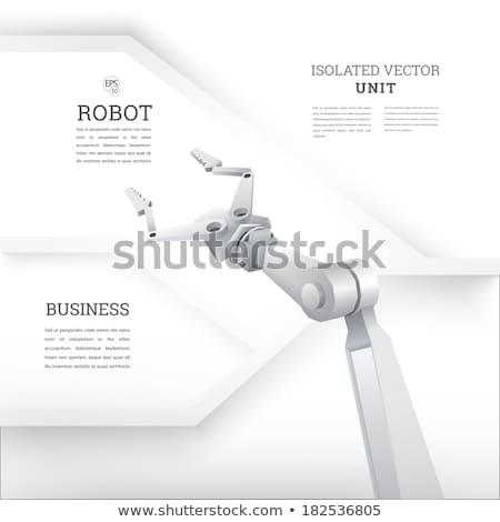 Grab robotic arm on white Stock photo © studioworkstock