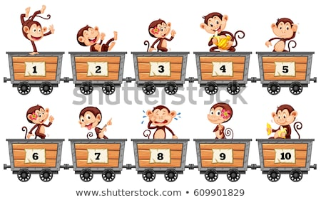 many animals and numbers one to ten stock photo © bluering