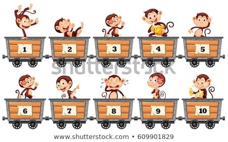 número · dez · ilustração · papel · crianças · escolas - foto stock © bluering