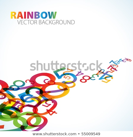 abstract background with colorful rainbow numbers stock photo © orson
