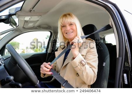 idős · kerék · nő · autó · nők · anya - stock fotó © FreeProd