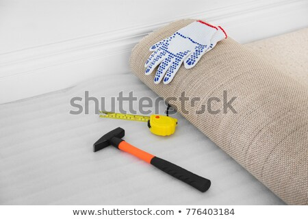 Carpet Fitter Installing Carpet Stock photo © AndreyPopov