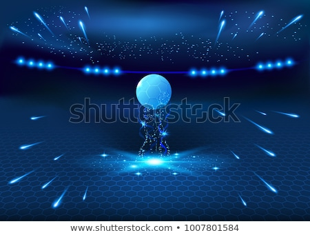 soccer cup background with football and glowing lines Stock photo © SArts