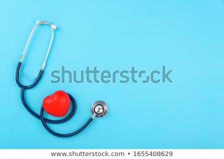 red heart and stethoscope stock photo © csdeli