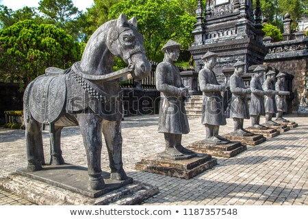 Hue, Vietnam. Stone guards of Royal Khai Dinh Tomb Stock photo © romitasromala