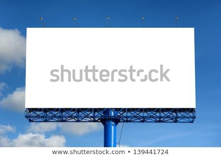 Открытый Billboard город небе дороги знак Сток-фото © paviem