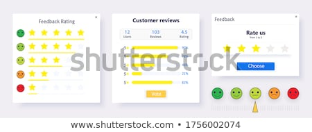 Feedbacks and ratings colorful icons Stok fotoğraf © Genestro