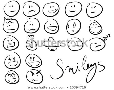 Ingesteld glimlach icon liefde vreugde ziek Stockfoto © orensila