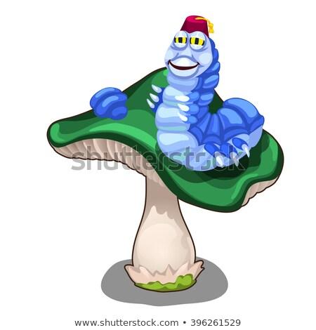 Dronken weinig worm cartoon illustratie naar Stockfoto © cthoman