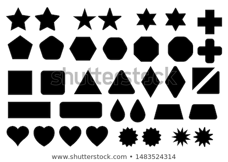 Black Abstract Diamond and Rectangle Shape Vector Illustration Stock photo © cidepix