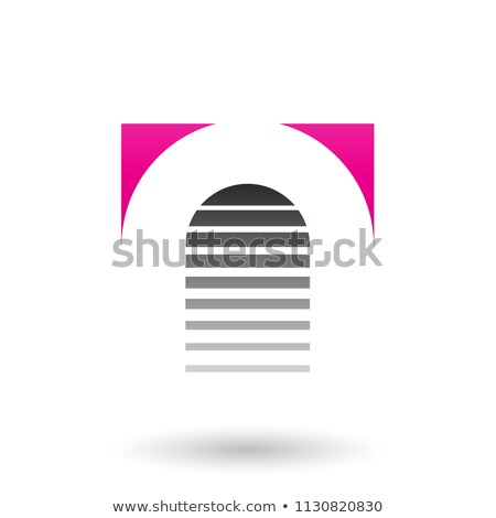 Magenta and Black Reversed U Icon for Letter A Vector Illustrati Stock photo © cidepix