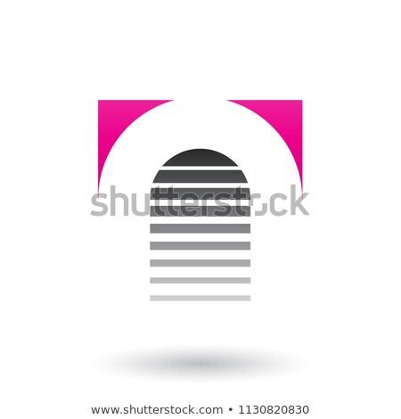 Magenta preto ícone carta vetor isolado Foto stock © cidepix