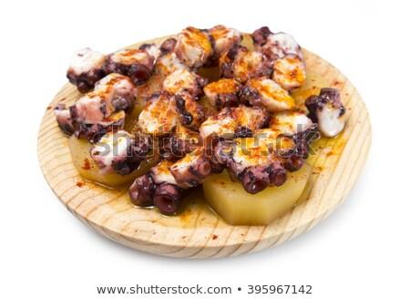 осьминога испанский рецепт продовольствие нефть Сток-фото © lunamarina