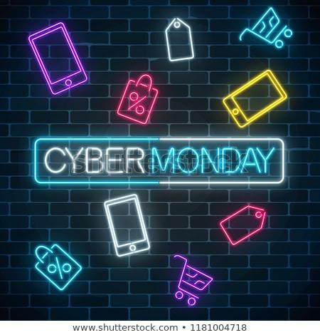 cyber monday neon icons stock photo © anna_leni