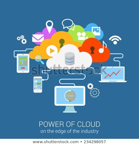 雲 · ストレージ · アプリ · インターフェース · テンプレート · 2 - ストックフォト © rastudio