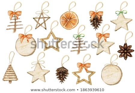 Happy New Year gold boho greeting card set Stock photo © cienpies