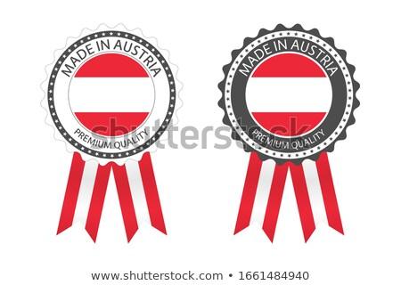 современных вектора Австрия Label изолированный белый Сток-фото © kurkalukas