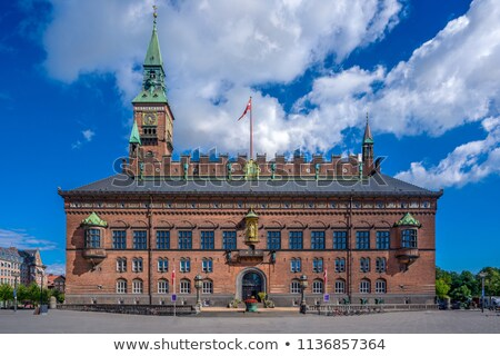 Torony város előcsarnok Koppenhága Dánia kilátás Stock fotó © boggy