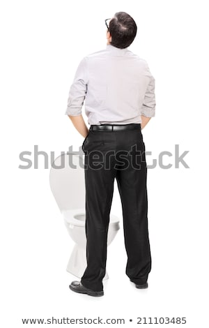 Man peeing in toilet bowl Stock photo © Kzenon