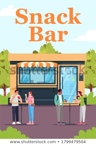 buitenkant · bar · gebouw · dining · plaats · vector - stockfoto © robuart