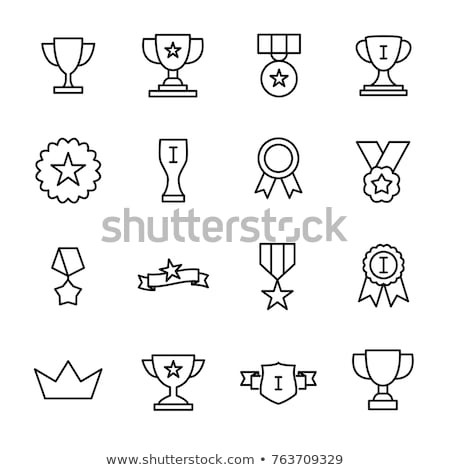 Prizes and Trophies Icons Set Vector Illustration Stock photo © robuart