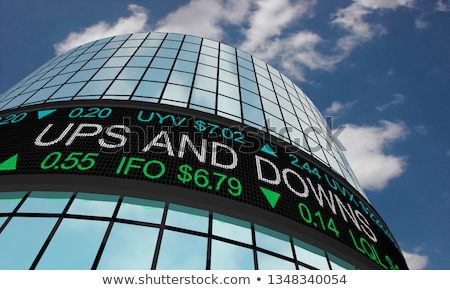 Foto stock: Dinero · hasta · abajo · ciclo · ganancias · ilustración
