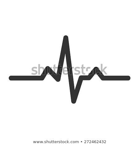 Heart beat monitor pulse line art vector icon for medical apps and websites. vector illustration. stock photo © kyryloff