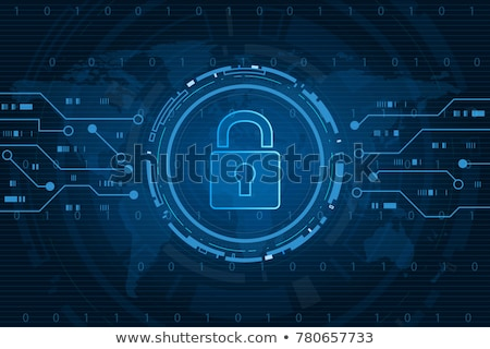 Cyber security technology concept , Shield With lock and Keyhole personal data , vector illustration Stock photo © kyryloff
