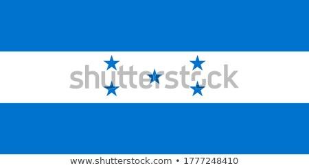Гондурас лента флаг Blue Sky спорт аннотация Сток-фото © doomko